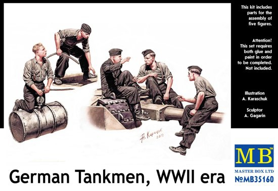 MB35160   German tankmen, WWII era (thumb18174)