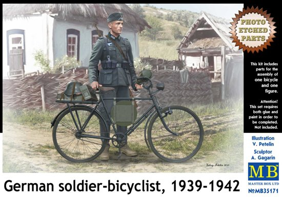 MB35171   German soldier-bicyclist, 1939-1942 (thumb18190)