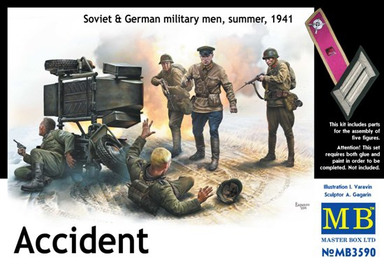 MB3590   Accident. Soviet & German military men, Summer 1941 (thumb18092)
