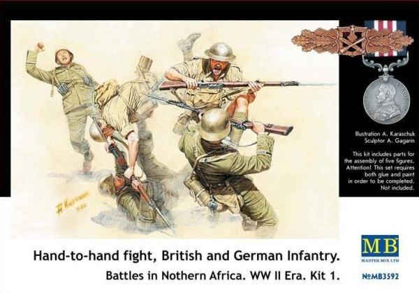 MB3592   Hand-to-hand fight, British and German infantry. North Africa. Kit 1 (thumb18096)