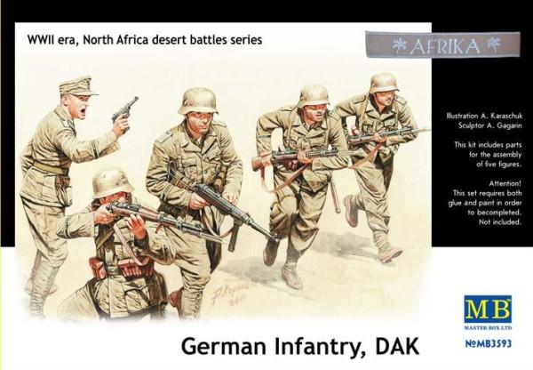 MB3593   German infantry, DAK. North Africa desert battles series (thumb18098)