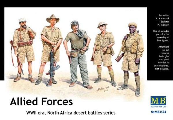 MB3594   Allied Forces. North Africa desert battles series (thumb18100)