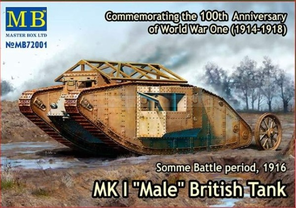 "MB72001   Mk I ""Male"" British tank, Somme battle, 1916 (thumb18212)"