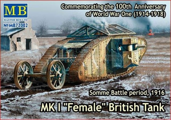 "MB72002   Mk I ""Female"" British tank, Somme battle, 1916 (thumb18214)"