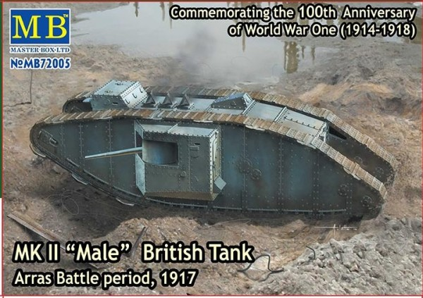"MB72005   Mk II ""Male"" British tank. Arras Battle period, 1917 (thumb18220)"