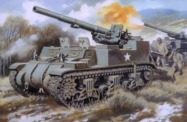 UM211   M12 U.S. 155mm self-propelled gun (thumb15741)