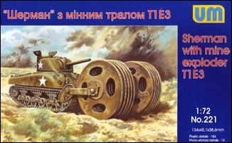 UM221   Sherman with mine exploder T1E3 (thumb15751)