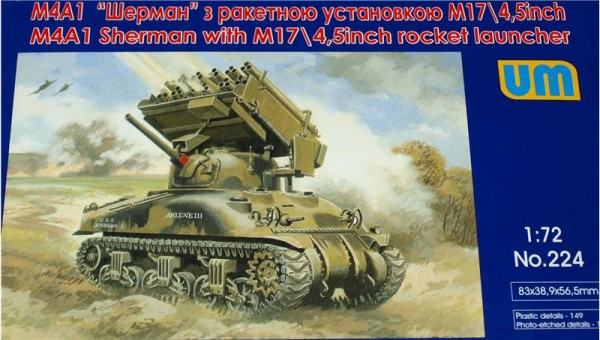 UM224   Tank M4А1 with M17/4.5inch rocket launcher (thumb15757)