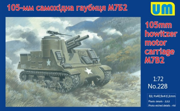 UM228   M7B2 105mm howitzer motor carriage (thumb15763)