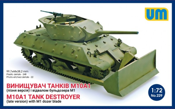UM229   M10A1 tank destroyer (late) with M1 dozer blade (thumb15765)