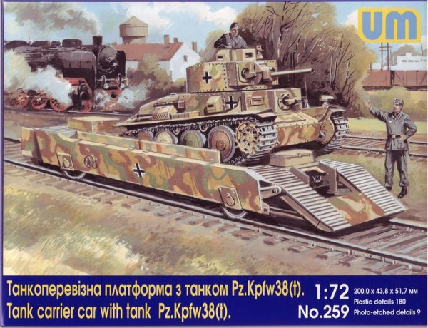 UM259   Tank carrier car with Pz.Kpfw 38(t) tank (thumb15781)