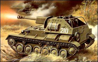 UM308   SU-76M Soviet WW2 self-propelled gun (thumb15797)