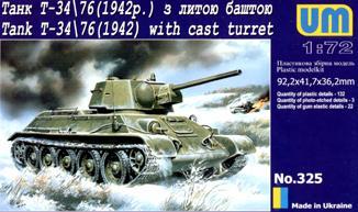 UM325   T-3476 WW2 Soviet tank (1942) witn cast turret (thumb15815)