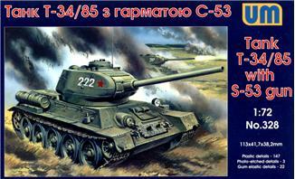 UM328   T-34-85 WW2 Soviet tank witn S-53 gun (thumb15821)