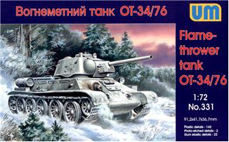UM331   OT-34-76 WWII Soviet flame-thrower tank (thumb15827)