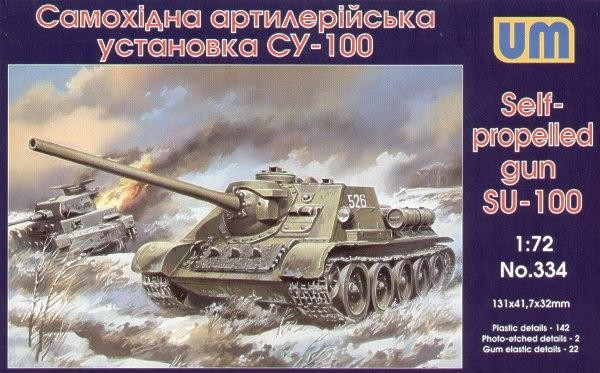 UM334   Su-100 Soviet self-propelled gun (thumb15833)