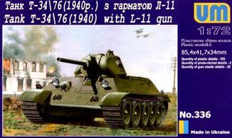 UM336   T-3476 WW2 Soviet tank (1940) witn L-11 gun (thumb15837)