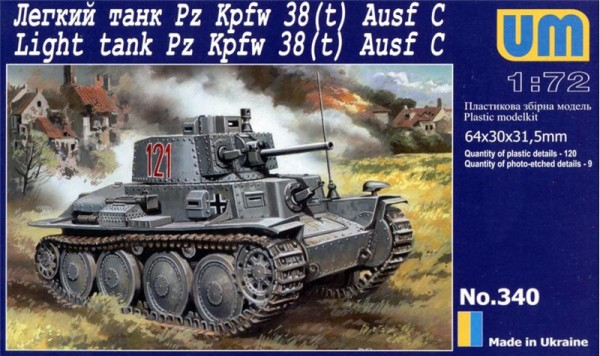UM340   Pz Kpfw 38(t) Ausf. C German light tank (thumb15843)