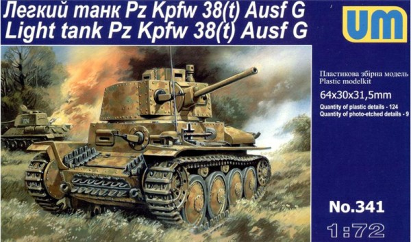 UM341   Pz.Kpfw 38(t) Ausf.G German light tank (thumb15845)