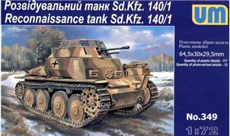 UM349   Sd.Kfz. 140/1 WWII German reconnaissance tank (thumb15861)