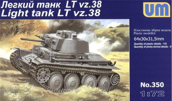 UM350   Praga LTvz.38 German light tank (thumb15863)