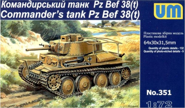 UM351   Pz. Bef. 38(t) WWII German commander's tank (thumb15865)
