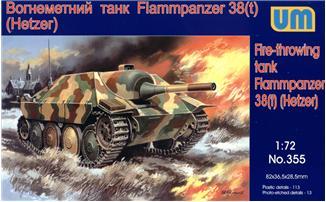UM355   Flammpanzer 38(t) Hetzer WWII German tank (thumb15873)