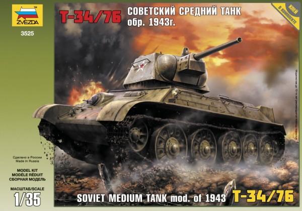 "ZV3525    Советский танк ""Т-34/76"" (thumb18621)"