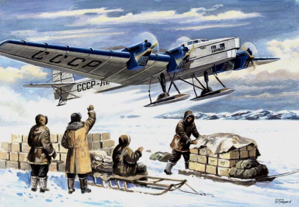 Mars-72001   Tupolev G-2, Soviet polar cargo aircraft    Туполев Г-2/ТБ-3 (thumb16640)