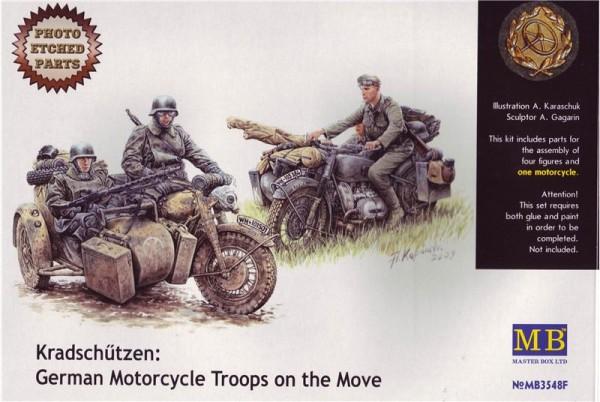 MB3548F   Kradschutzen: German motorcycle troops on the move (thumb18028)