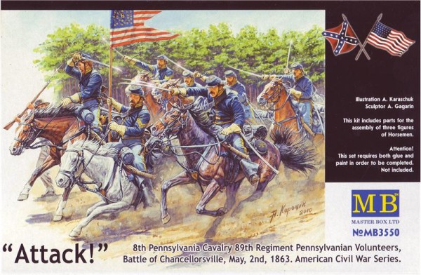 MB3550   8th Pennsylvania cavalry, Battle of Chancellorsville. American Civil War. (thumb18032)
