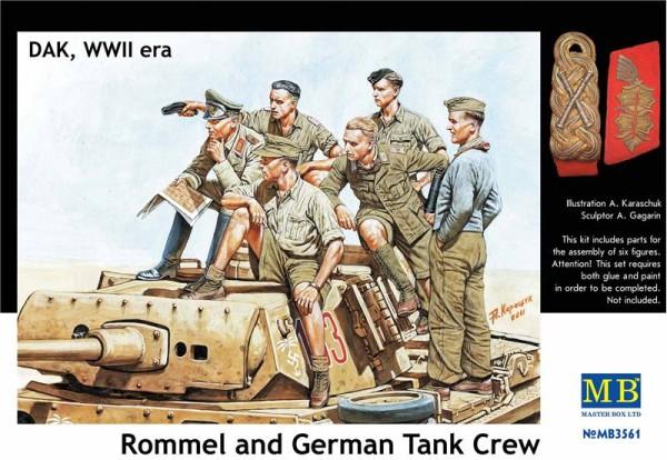 MB3561   Rommel and German tank crew, DAK, WWII era (thumb18050)