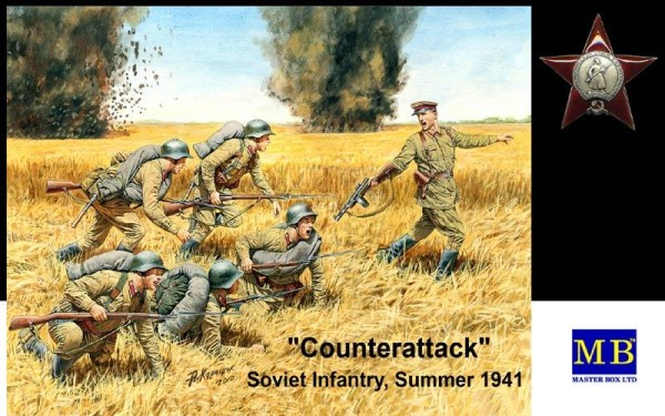 "MB3563   ""Counterattack"". Soviet infantry, Summer 1941 (thumb18054)"