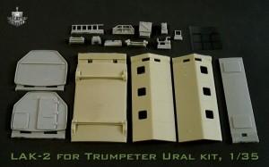 BM3553     LAK-2 shelter for Trumpeter Ural-375/4320 kit (attach1 17369)