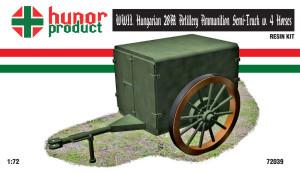 HP72039   WWII. HUNGARIAN 28M ARTILLERY AMMUNITION SEMI-TRUCK w. 4 HORSES (thumb18344)