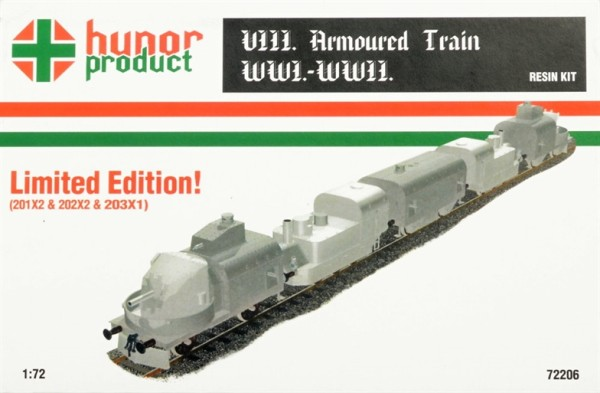HP72206   VIII. ARMOURED TRAIN WWI.-WWII. (201X2 & 202X2 & 203X1) (thumb18361)