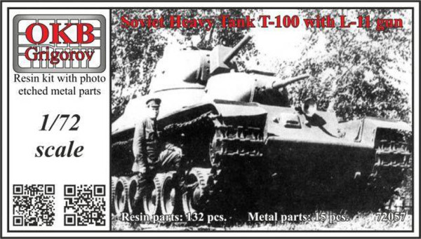 OKBV72057    Soviet Heavy Tank T-100 with L-11 (thumb20610)