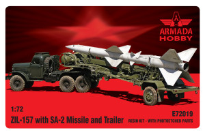 AME72019   ZIL-157 with SA-2 Missile and Trailer (thumb18336)