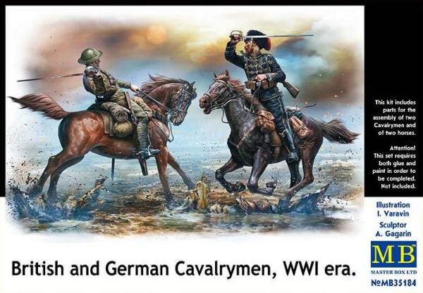 MB35184   British and German cavalrymen, WWI era (thumb19336)