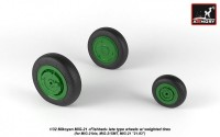 AR AW32011   1/32 Mikoyan MiG-21 Fishbed wheels w/ weighted tires, late (attach1 21514)