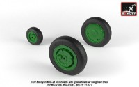 AR AW32011   1/32 Mikoyan MiG-21 Fishbed wheels w/ weighted tires, late (attach3 21514)