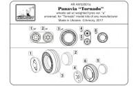 AR AW32501a   1/32 Panavia «Tornado» wheels, w/ tires type 1 (attach4 21520)