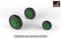 AR AW48028   1/48 Mikoyan MiG-21 Fishbed wheels w/ weighted tires, mid (attach1 21543)