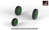 AR AW48028   1/48 Mikoyan MiG-21 Fishbed wheels w/ weighted tires, mid (attach2 21543)