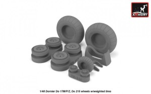 AR AW48205   1/48 Dornier Do 17M/P/Z, Do 215 wheels w/weighted tires (thumb21567)