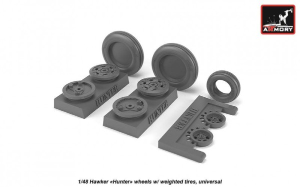 "AR AW48406   1/48 Hawker ""Hunter"" weighted wheels (thumb21580)"