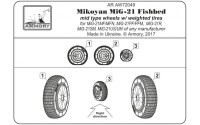 AR AW72049   1/72 Mikoyan MiG-21 Fishbed wheels w/ weighted tires, mid (attach4 21592)