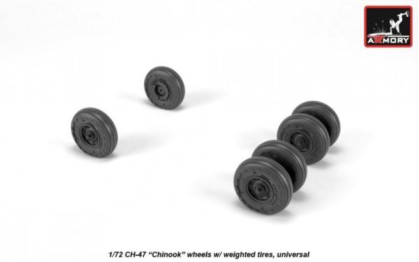 AR AW72317   1/72 CH-47 Chinook wheels (thumb21620)