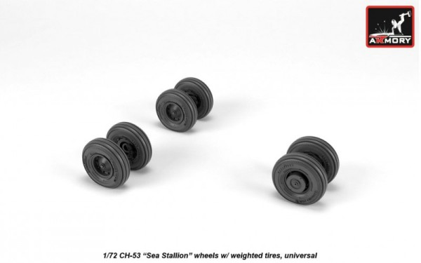 AR AW72318   1/72 CH-53 Sea Stallion wheels w/ weighted tires (thumb21626)