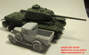 GZ-001 Soviet pick-up car GAZ-4 (attach6 21715)